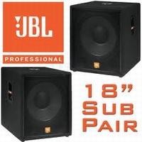 JBL JRT 118 S (2 stuks)